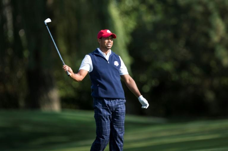 Tiger Woods is back playing at the Ryder Cup for the first time since 2012