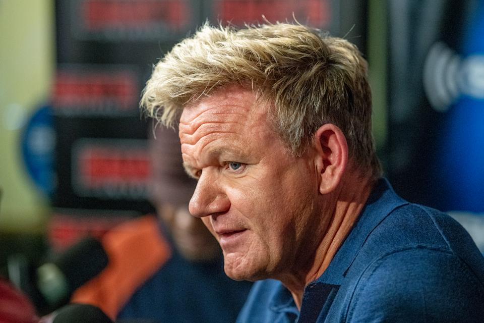 Gordon Ramsay visits Sway In the Morning on Shade 45 at SiriusXM Studios on September 25, 2018 in New York City.  (Photo by Roy Rochlin/Getty Images)