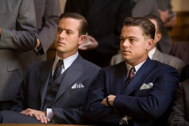 "Armie Hammer as Clyde Tolson and Leonardo DiCaprio as J. Edgar Hoover in ""J. Edgar,"" 2011. (Photo: Keith Bernstein/©Warner Bros./courtesy Everett Collection)"
