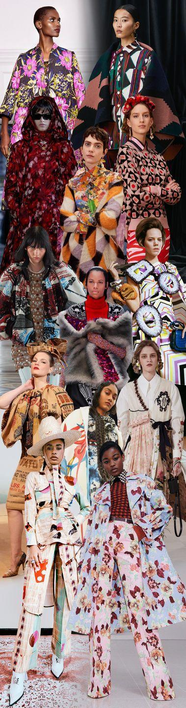 <p>The future is bright, bold, and primed for attracting attention. Here to herald this message are fashion designers. From Thebe Magugu to Simone Rocha to Nicolas Ghesquière at Louis Vuitton, many presented collections with wild, wonderful prints. Magugu, for example, referenced mysticism in the pattern of a sleek suit; Ghesquière brought the Louvre's paintings to life; and Rocha went for Baroque with romantic florals. Come fall, we are going to break free from gray and neutral tones, and bring some vibrancy into our lives. </p><p><em>Pictured from top to bottom: Duro Olowu, Colville, Christian Dior, La DoubleJ, Arthur Arbesser, Louis Vuitton, Loewe, Prada, Moschino, Simone Rocha, Stella Jean, Thebe Magugu, and Victoria Beckham. </em></p>