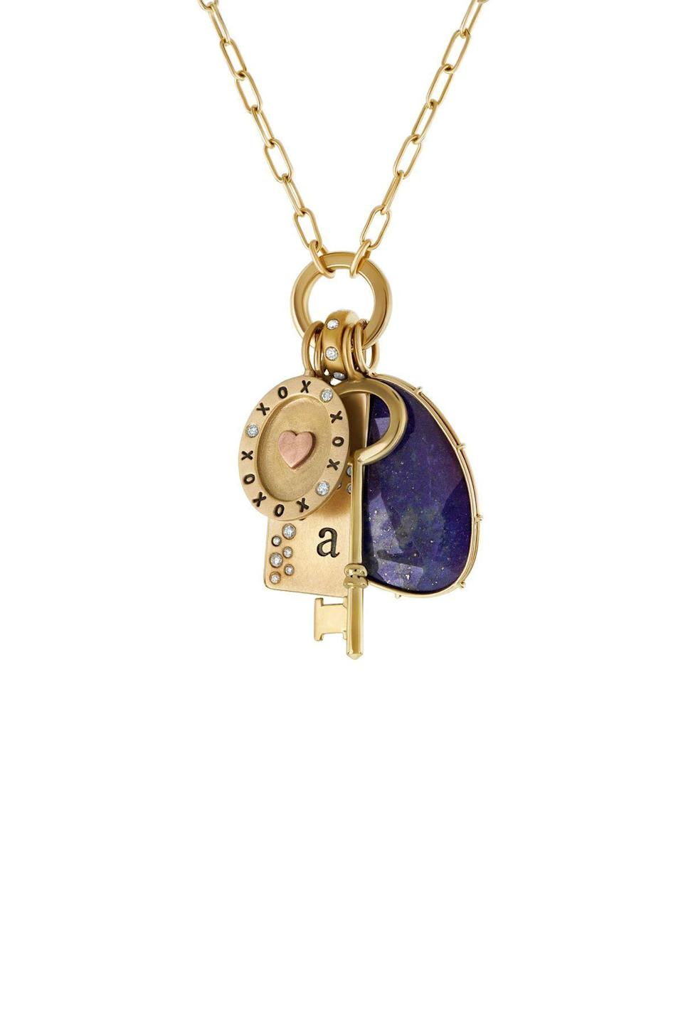 """<p><strong>Heather B Moore</strong></p><p>heatherbmoore.com</p><p><strong>$6322.00</strong></p><p><a href=""""https://heatherbmoore.com/collections/necklaces/products/styled-necklace-135"""" rel=""""nofollow noopener"""" target=""""_blank"""" data-ylk=""""slk:Shop Now"""" class=""""link rapid-noclick-resp"""">Shop Now</a></p><p>All of Heather B. Moore's jewelry is handmade in her studio in Cleveland, Ohio. She is also committed to sustainability, using only 100% recycled metals in her designs.</p>"""