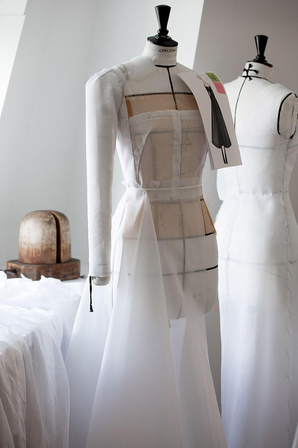 <p>Portman's dress in its very early stages.</p>