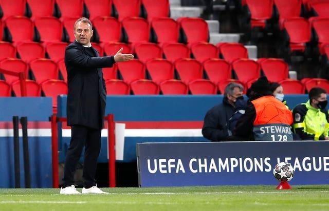 Hansi Flick saw his side eliminated from the Champions League on Tuesday