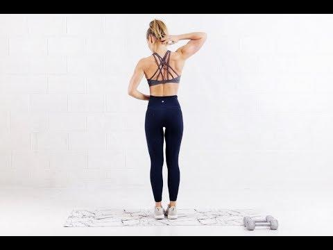 """<p>Sculpt lean back muscle with trainer Heather Robertson and her at-home friendly back workout. </p><p><strong>Equipment: </strong>Dumbbells</p><p><strong>How long? </strong>13 minutes<strong><br></strong></p><p><a href=""""https://www.youtube.com/watch?v=D8XQFYVOjcI&ab_channel=HeatherRobertson"""" rel=""""nofollow noopener"""" target=""""_blank"""" data-ylk=""""slk:See the original post on Youtube"""" class=""""link rapid-noclick-resp"""">See the original post on Youtube</a></p>"""