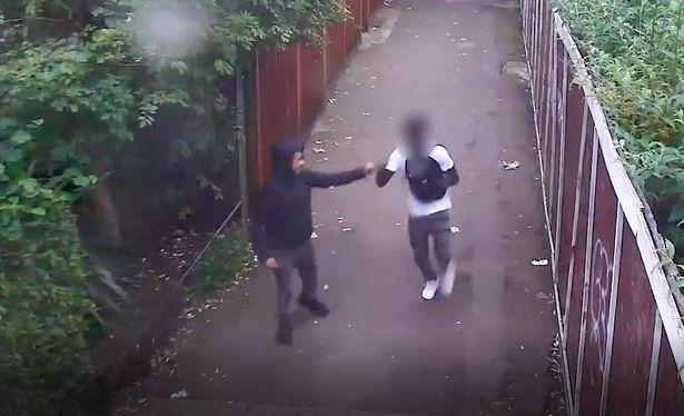 William Haines, 18, and a 17-year-old were filmed bumping fists after the attack (Picture: PA)