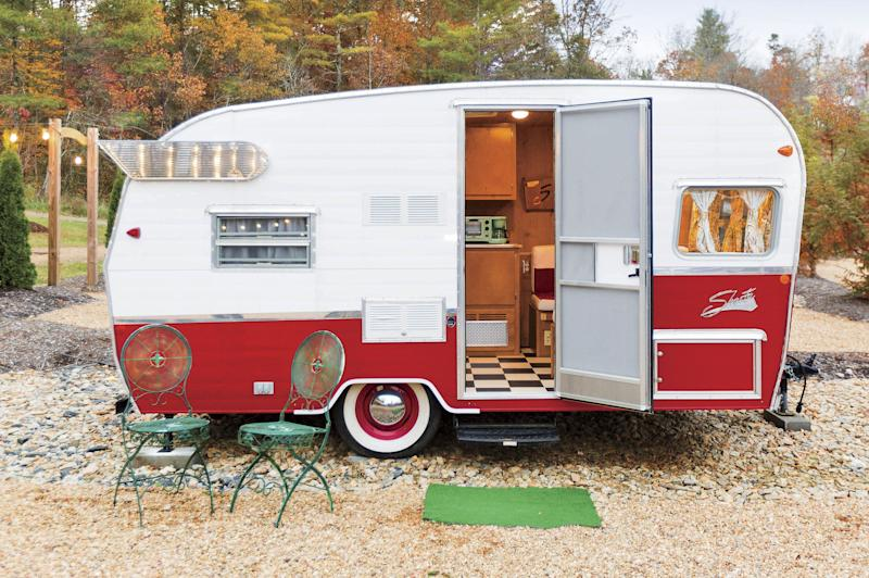At JuneBug Retro Resort, guests can stay in a fully restored vintage camper or trailer. | Cameron Reynolds