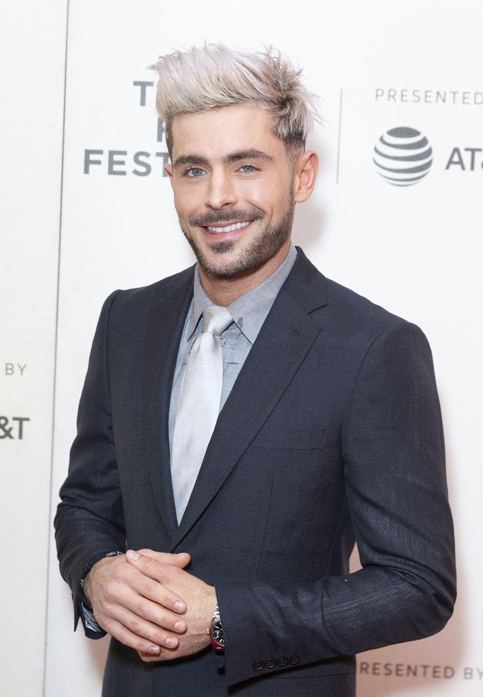 <p><strong><strong>Blonde</strong></strong></p><p>Even with platinum hair (featured here from the premiere of <em>Extremely Wicked, Shockingly Evil and Vile </em>back in 2019), Efron proves he can rock any look quite easily. </p>