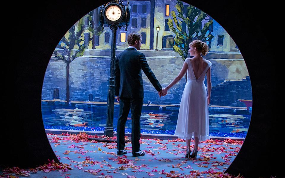 <p>Emma Stone and Ryan Gosling team up with Damien Chazelle, the writer and director of 'Whiplash'. Wait, you need more reason to be excited? Okay, it's a musical comedy drama about a blossoming romance between Gosling's jazz pianist and Stone's aspiring actress and it's getting serious Oscar buzz. Credit: Lionsgate </p>