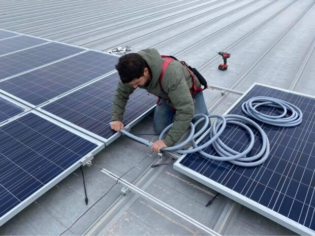 More Islanders are looking to install solar panels, says Maritime Electric. (Submitted by Alex Ittimangnaq - image credit)