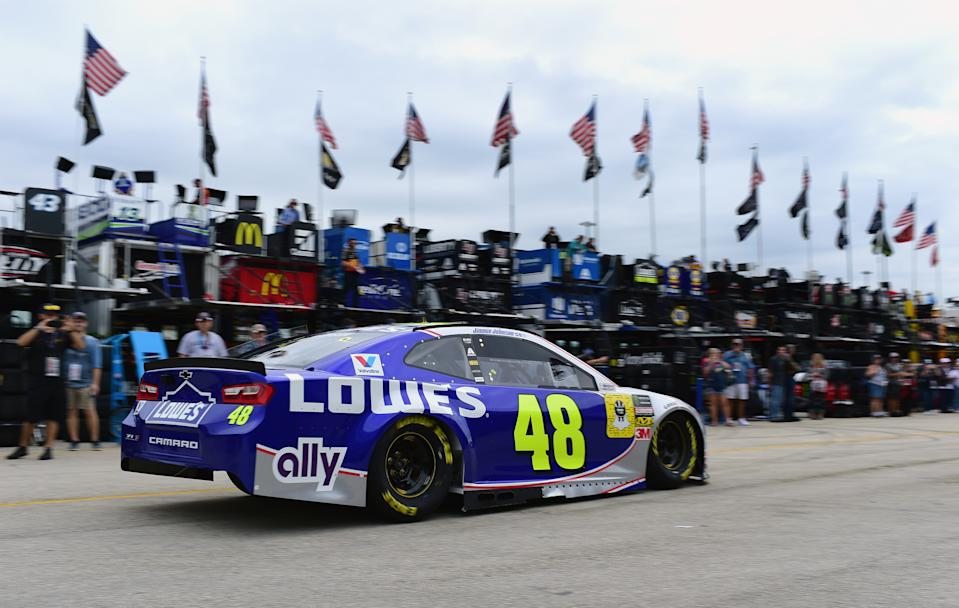 Jimmie Johnson in 2018. (Photo by Jared C. Tilton/Getty Images)