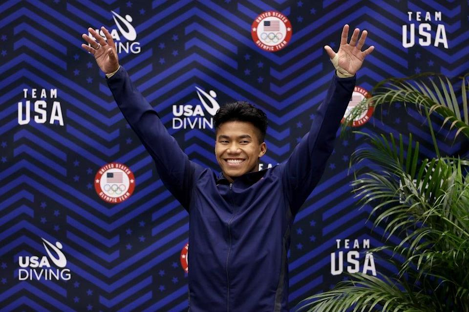 Team USA diver credits adoptive father for his success (Getty Images)