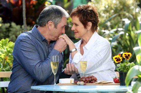 Alan Fletcher and Jackie Woodburne play Karl and Susan Kennedy. Image: Network 10