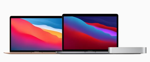 Apple M1 MacBook Air, MacBook Pro and Mac mini