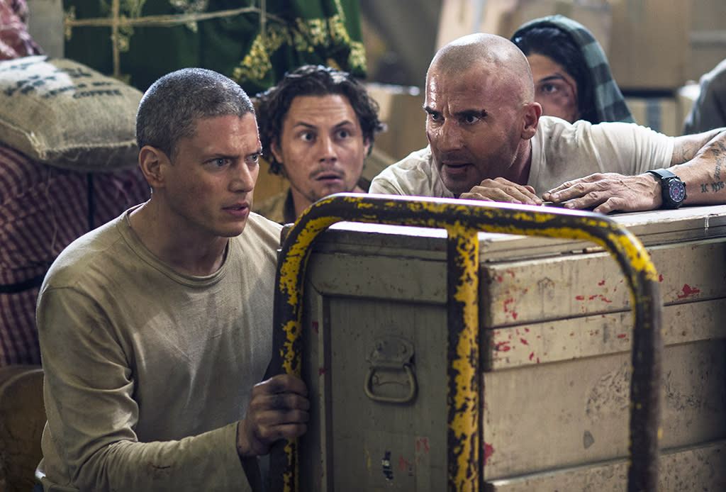 "<p><strong>This Season's</strong> <strong>Theme:</strong> Fox subtitled season 5 ""Resurrection,"" and stars Sarah Wayne Callies and Robert Knepper use a different ""re"" word — rebirth. But it's not only the character of Michael Scofield (Wentworth Miller) being reborn after his presumed death at the end of season 4; the show itself is getting a fresh start. ""The first episode really impressed me, partly because it wasn't trying to be a carbon copy of the show that we left,"" Callies says. Knepper adds, ""It's very reminiscent of the first season — nail-biting, a real page turner.""<br /><strong>Where We Left Off: </strong>After Michael and Sara Tancredi (Callies) got married, a pregnant Sara was arrested for murdering his mother. Michael teamed up with brother Lincoln (Dominic Purcell) and former prison mate Sucre (Amaury Nolasco) to break her out of jail. During the escape, Michael sacrificed his life to get Sara out. Via a pre-taped video, he reveals that his brain tumor had returned and he didn't have long to live anyway.<em> </em><br /><strong>Coming Up:</strong> Michael Scofield is alive… though not well, since he's being held in a Yemeni prison on charges of terrorism. The news gets to Lincoln from the unlikeliest source: The highly dangerous T-Bag (Knepper), whose ""wit has gotten even more acerbic,"" says the actor. T-Bag is freed from Fox River ""and then boom — he's got to untangle the whole mess and figure out how to stay out of jail."" Lincoln pulls in old friends and enemies into his plan to save Michael, including Sucre, C-Note (Rockmond Dunbar), and even Kellerman (Paul Adelstein). As for Sara, she has a hard time believing Michael could be alive. ""It takes awhile before there's anything like real proof,"" Callies says. ""At that point, the most salient question is, 'Where the hell have you been?'"" Sara is remarried to a steady man and raising her son, Michael Scofield Jr. ""There's a whole new set of stakes for both Sara and Michael,"" says Callies. ""It's not about us anymore, it's about this kid.""<br /><strong>Fan Service:</strong> Both Callies and Knepper hesitated to sign on to the new season until they were sure they were doing right by the fans. ""There are a lot of reasons to bring a show back, and one of them is that networks want to make money,"" says Callies. ""The Prison Break fans mean a lot to me. I didn't want to be part of a show that was just going to capitalize [that] fanbase, without doing justice to those fans."" Knepper agrees: ""There's a huge amount of gratitude for what happened to us because of this show. There's a genuine concern on everyone's part to tell the best story we could."" <em>— Kelly Woo</em><br /> (Photo by: Didier Baverel/Fox) </p>"