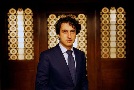 Dutch Green Party (Groen Links) leader Jesse Klaver speaks to Reuters during an interview about the 2017 Dutch election in the Hague, Netherlands, March 8, 2017. REUTERS/Michael Kooren