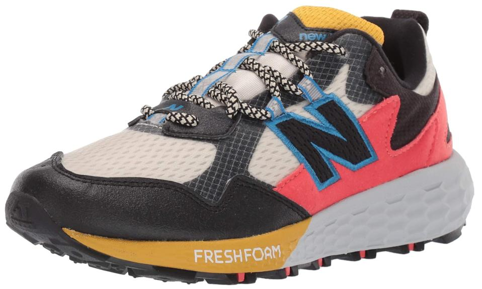 """<h2>40% Off New Balance Fresh Foam Crag Trail V2 Sneaker</h2><br>""""Anyway, back to Amazon. There were also a lot of good footwear markdowns, so I was planning to get a classic, Dad-style pair of New Balances, but then I saw their FIRE trail-running shoes. It's not like I run <em>or</em> frequent trails much these days, but how hot are these?!""""<br><br><em>— Emily Ruane, Fashion Market Writer</em><br><br><strong>New Balance</strong> Women's Fresh Foam Crag Trail V2 Sneaker, $, available at <a href=""""https://amzn.to/33U1LqP"""" rel=""""nofollow noopener"""" target=""""_blank"""" data-ylk=""""slk:Amazon"""" class=""""link rapid-noclick-resp"""">Amazon</a>"""