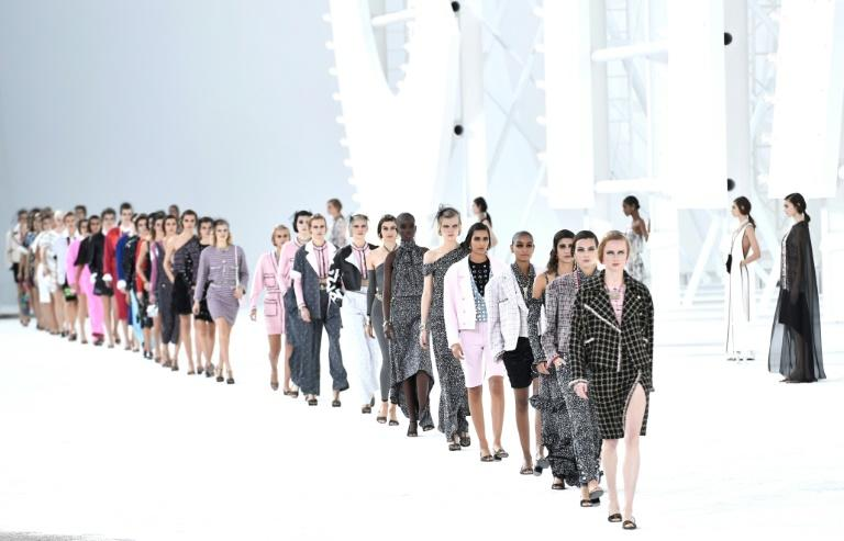 The show was dominated by black and white interspersed with splashes of bold colours