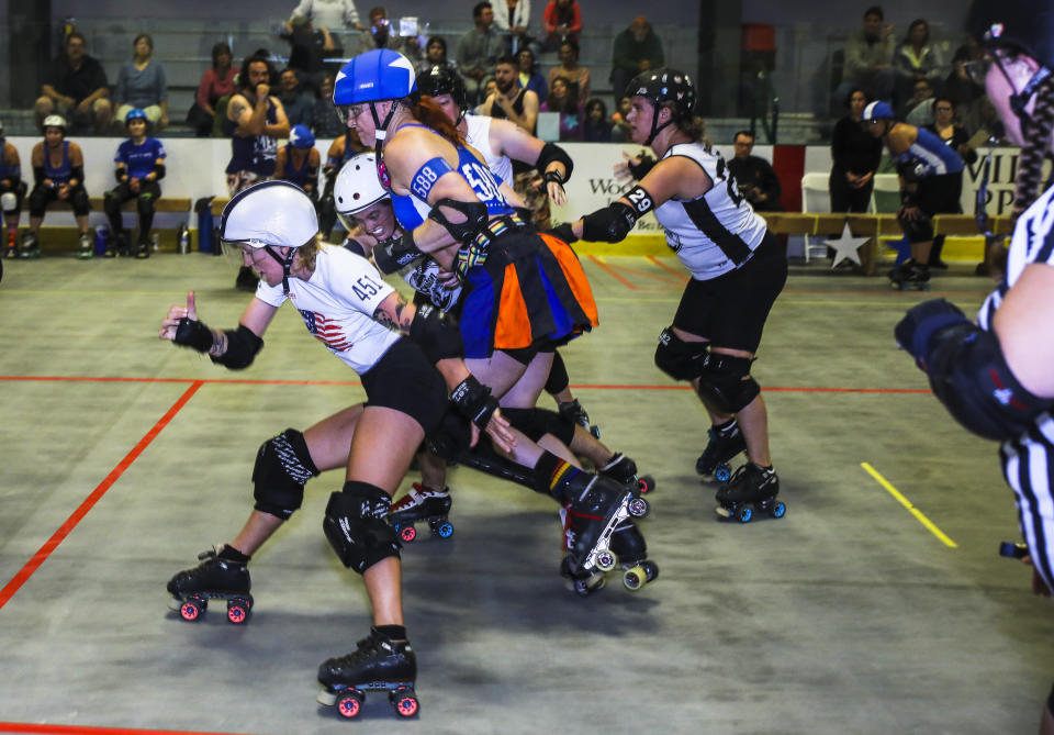 Roller derby's international governing body is taking the safety of its athletes and fans very seriously during the COVID-19 pandemic. (Photo by Erin Clark for The Boston Globe via Getty Images)
