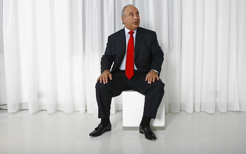 Sir Philip Green at Arcadia headquarters in 2007 - REX