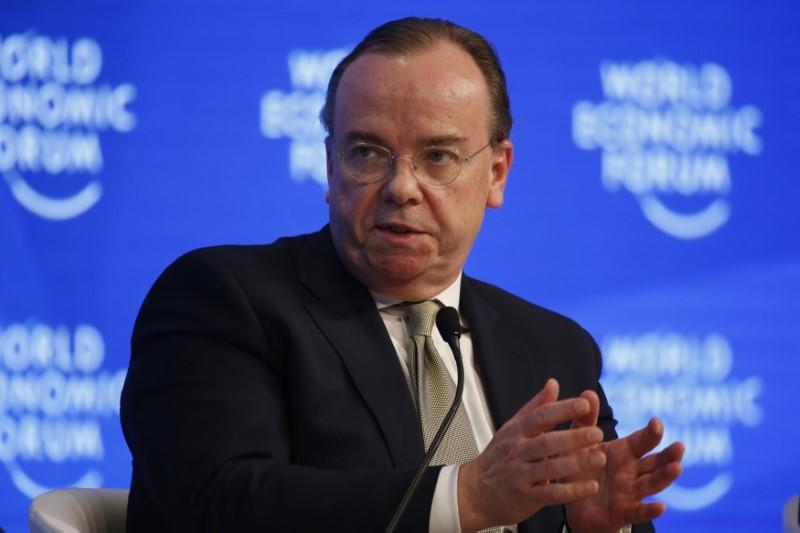 HSBC Chief Executive Stuart Gulliver, attends the annual meeting of the World Economic Forum (WEF) in Davos