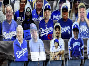 Hall of Fame and former Los Angeles Dodgers manager Tommy Lasorda passed away at the age of 93. Former Los Angeles Dodgers manager Tommy Lasorda cutout prior to a MLB baseball game on Opening Day at Dodger Stadium in Los Angeles on Thursday, July 23, 2020. (Keith Birmingham/The Orange County Register via AP)