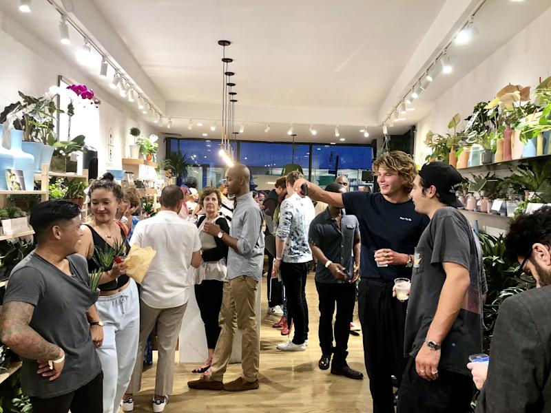 Jordan Barrett attends the opening of the PlantShed 1 Prince Street location in New York City.