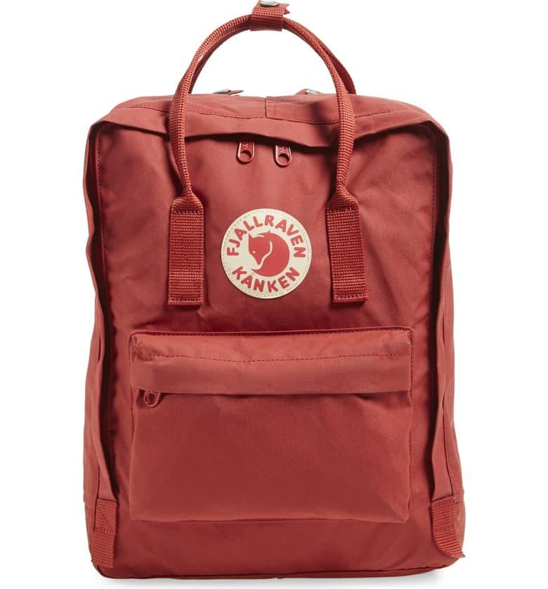 Fjällräven Kånken Water Resistant Backpack in deep red