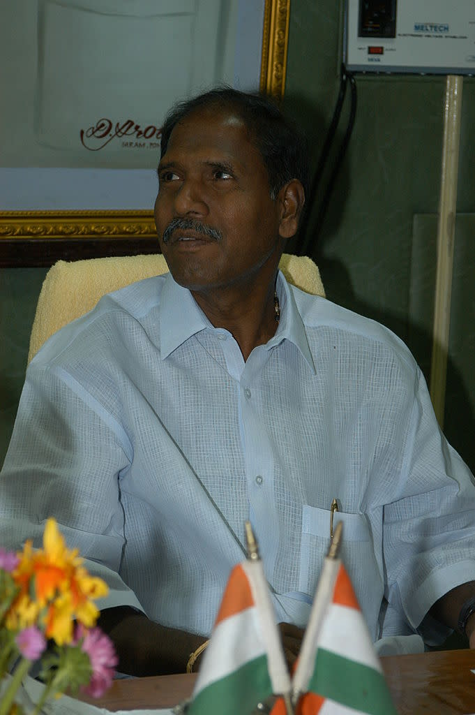 <p><strong>WINS </strong>from <strong>Thattanchavady</strong> (Puducherry) against Sethu Selvam (CPI) by 5,456 votes</p>