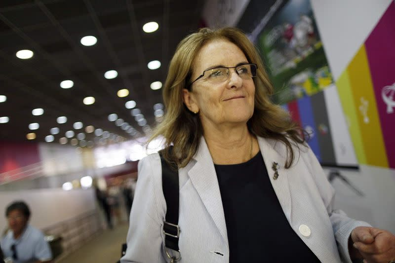Petrobras Chief Executive Maria das Gracas Silva Foster is seen arriving at the Brasilia international airport after meeting with President Rousseff