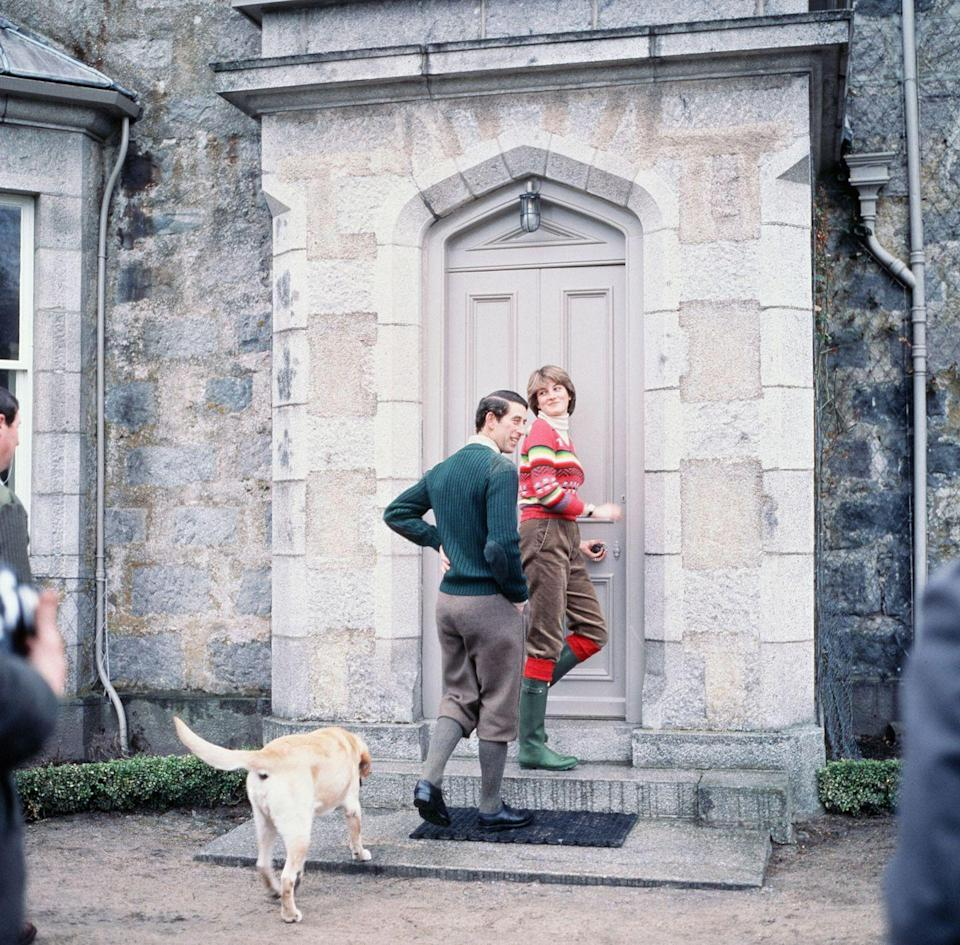 <p>Just two months before their wedding, Prince Charles and Diana holidaying at Balmoral Castle in Scotland.</p>