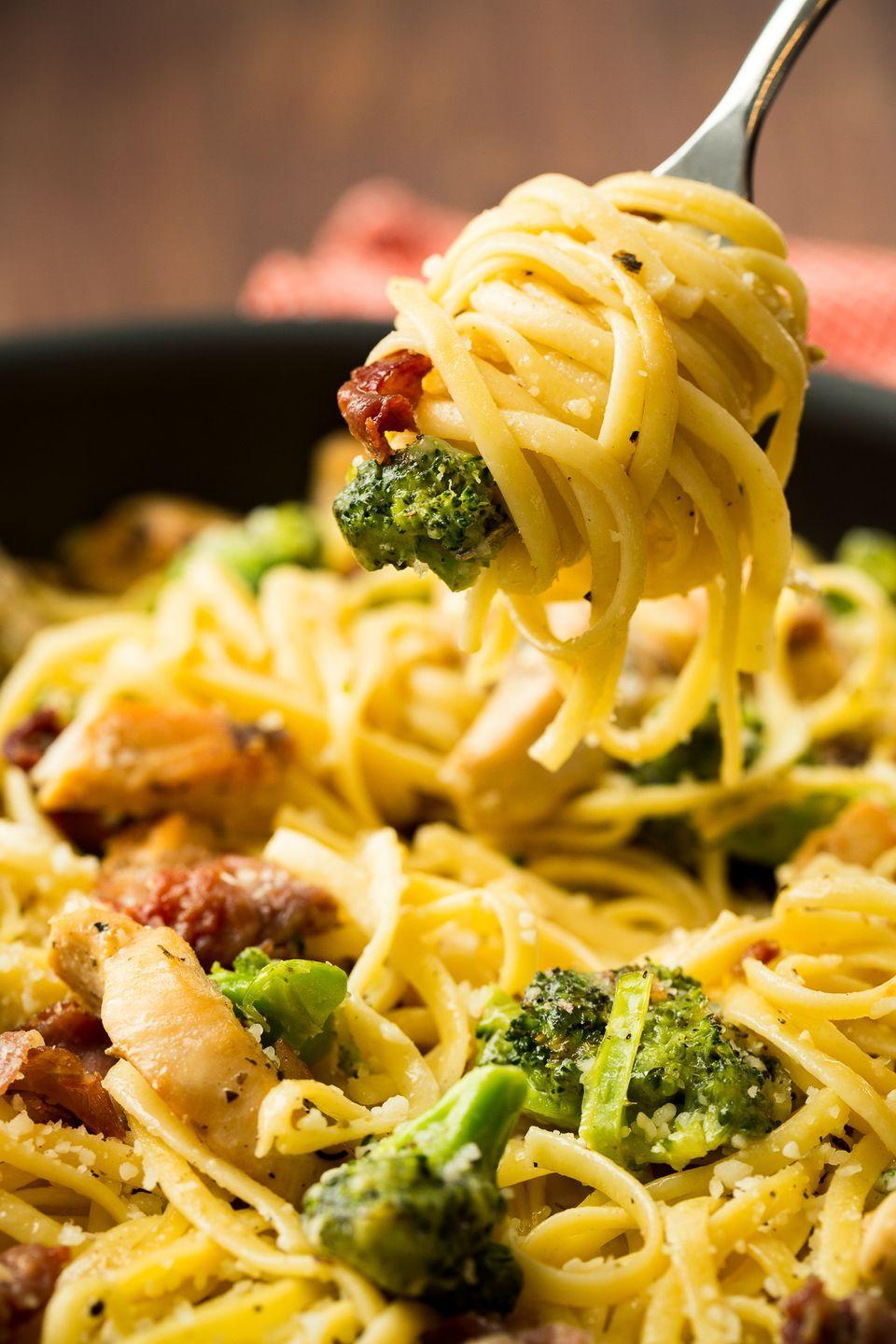 """<p>Crispy morsels of prosciutto will make you forget <em>all</em> about bacon.</p><p>Get the recipe from <a href=""""https://www.delish.com/cooking/recipe-ideas/recipes/a47050/prosciutto-chicken-pasta-recipe/"""" rel=""""nofollow noopener"""" target=""""_blank"""" data-ylk=""""slk:Delish"""" class=""""link rapid-noclick-resp"""">Delish</a>.</p>"""