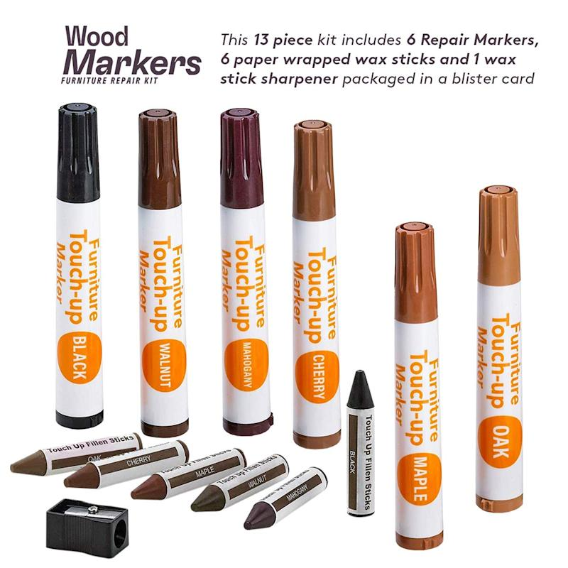 Furniture Repair Kit Wood Markers - Set Of 13. (Photo: Amazon)