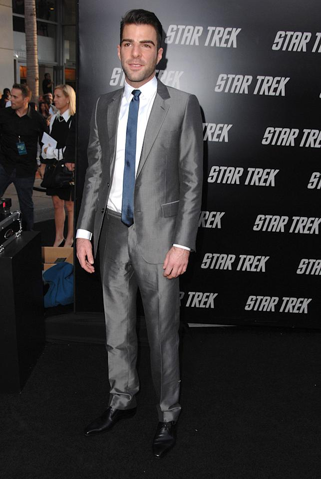 "<a href=""http://movies.yahoo.com/movie/contributor/1808558768"">Zachary Quinto</a> at the Los Angeles premiere of <a href=""http://movies.yahoo.com/movie/1809752801/info"">Star Trek</a> - 04/30/2009"