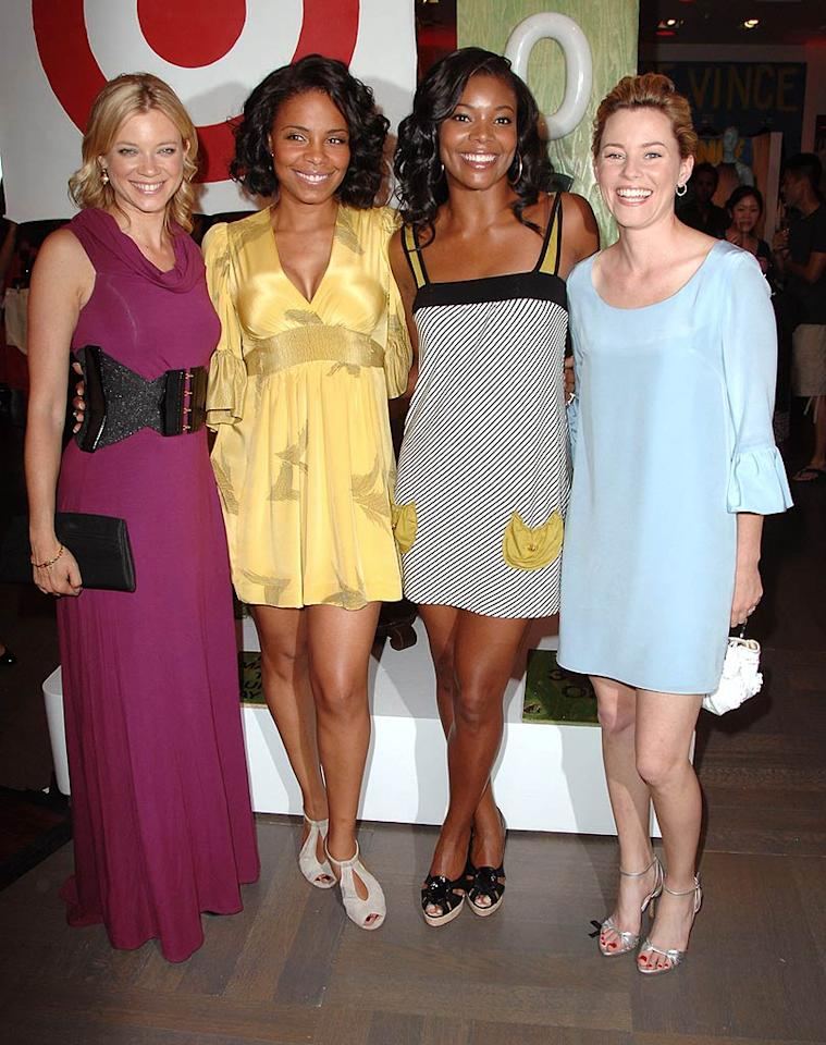 """Actresses Amy Smart, Saana Lathan, Gabrielle Union, and Elizabeth Banks attend the Rogan for Target debut in Beverly Hills. Target is launching a affordable line of clothes from the New York-based designer. Steve Granitz/<a href=""""http://www.wireimage.com"""" target=""""new"""">WireImage.com</a> - May 15, 2008"""