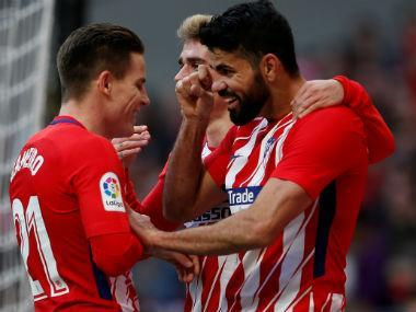 Atletico Madrid's Diego Costa scored his first Liga goal in six weeks to finish off a resilient Athletic Bilbao side in a 2-0 win on Sunday as they cut the gap to leaders Barcelona back to seven points.