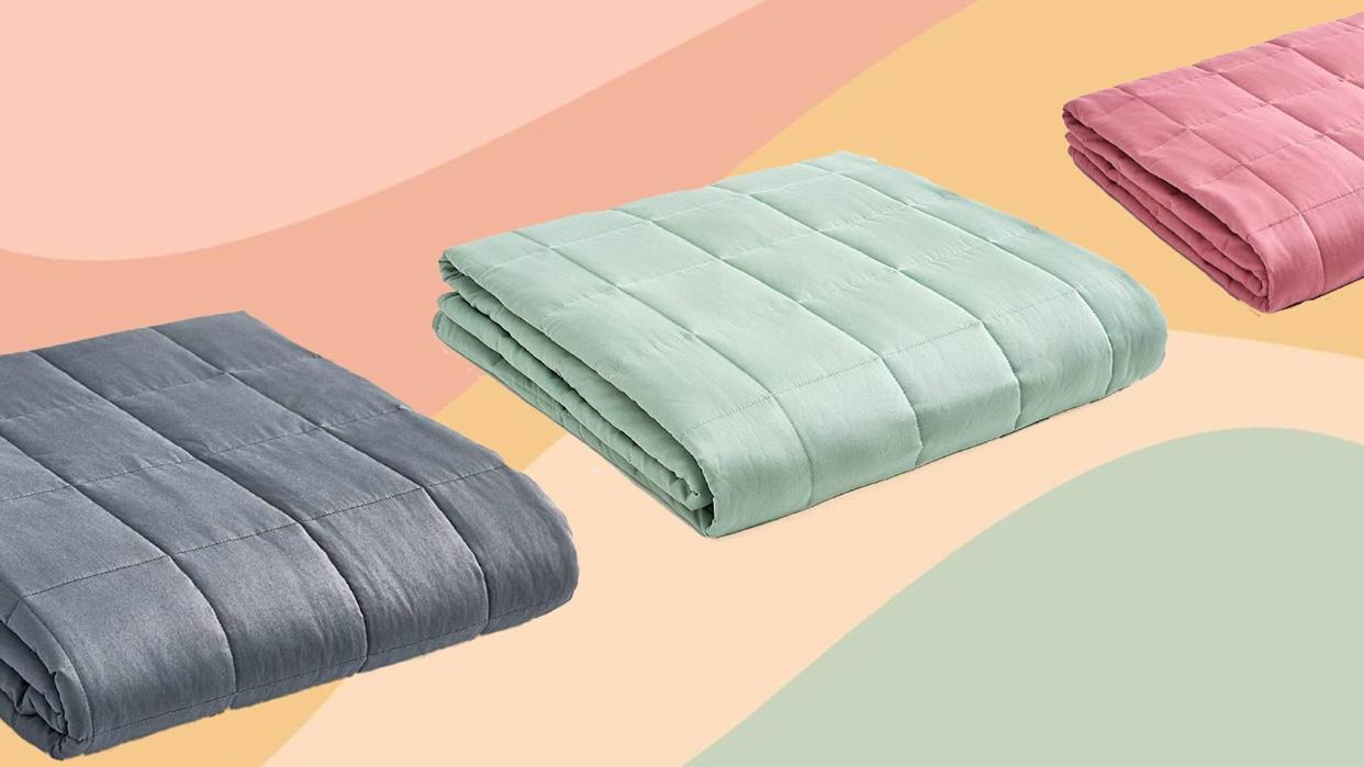 Ironically, a weighted blanket is just the thing to relieve you of the burden of sleepless nights. Go figure. (Photo: Amazon)
