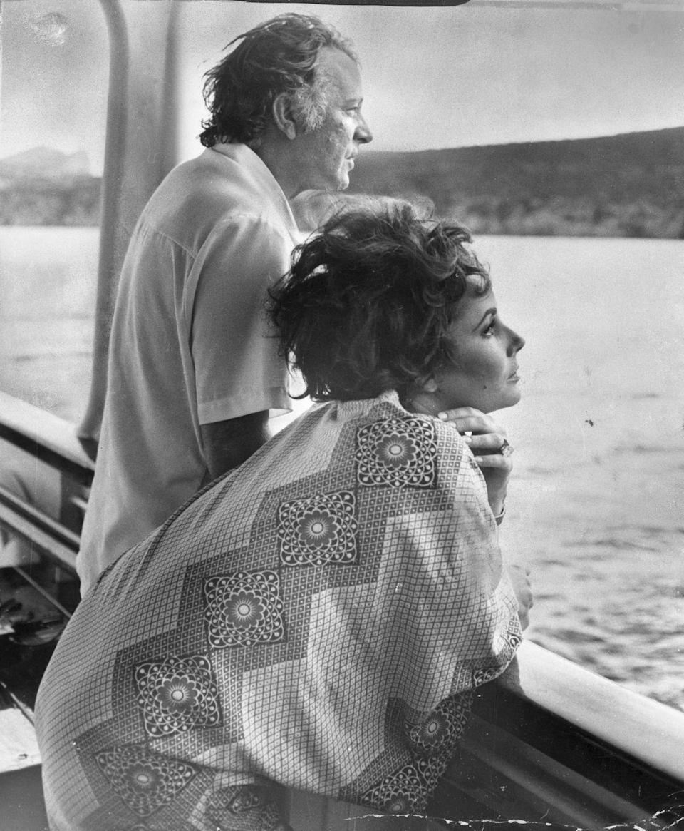 <p>Elizabeth and Richard starred in numerous films together throughout their marriage. While filming <em>Boom! </em>in 1967, the couple moved their family aboard their yacht (named Kalizma) in Sardinia, Italy. </p>