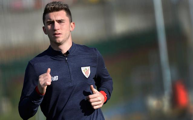 """Pep Guardiola will seal the £57 million capture of Athletic Bilbao defender Aymeric Laporte in the next 48 hours. Manchester City have triggered Laporte's release clause and the France under-21 international is expected to have a medical on Tuesday, in a deal which will be a club transfer record. Laporte has been a priority target for Guardiola since his appointment at the Etihad Stadium and City believe the 23-year-old represents an excellent signing for the future. City are also continuing talks with Shakthar Donetsk over a £45m deal for midfielder Fred, with the option of loaning him back for the remainder of the season. Shakthar are reluctant to lose the Brazilian international this season and City are happy to agree a deal which brings him to Manchester after the World Cup. Watford in for Troy Deeney Alan Pardew has tabled a £16m bid for Watford striker Troy Deeney. Could Troy Deeney be on his way out of Watford? Credit: GETTY IMAGES Pardew, the West Brom head coach, is making a big play for Deeney and has been backed by the club's hierarchy despite doubts over the future of Jonny Evans. Watford would be reluctant to sell Deeney to a perceived """"relegation rival"""" but West Brom's offer is significant and Pardew is hoping to sort a deal before Wednesday's deadline. West Brom are on the brink of completing the signing of Egypt international Ali Gabr on loan, after the defender had a medical on Sunday. West Ham to sell striker to Ligue 1 side West Ham striker Diafra Sakho is set to complete a £4m move to Rennes on Monday. Sakho will join the Ligue 1 side after a difficult three-and-a-half years with the Hammers, following his £3.5m move from Metz in the summer of 2014. West Ham's £15m bid for Fulham midfielder Tom Cairney has been rejected by the Championship club. Norwich have slapped a £20m price tag on England under-21 international James Maddison and are determined to keep him at Carrow Road until the summer at least. Monaco ready to sign Italian wonderkid Monac"""