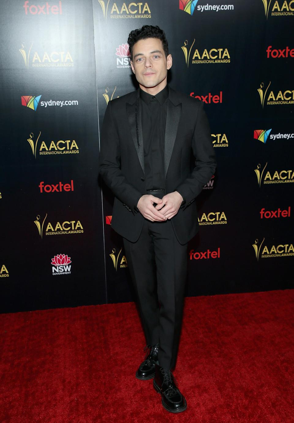 <p>Bohemian Rhapsody star Rami Malek became a first-time AACTA Award winner as he received the Best Lead Actor for his portrayal of Freddie Mercury. Photo: Getty </p>