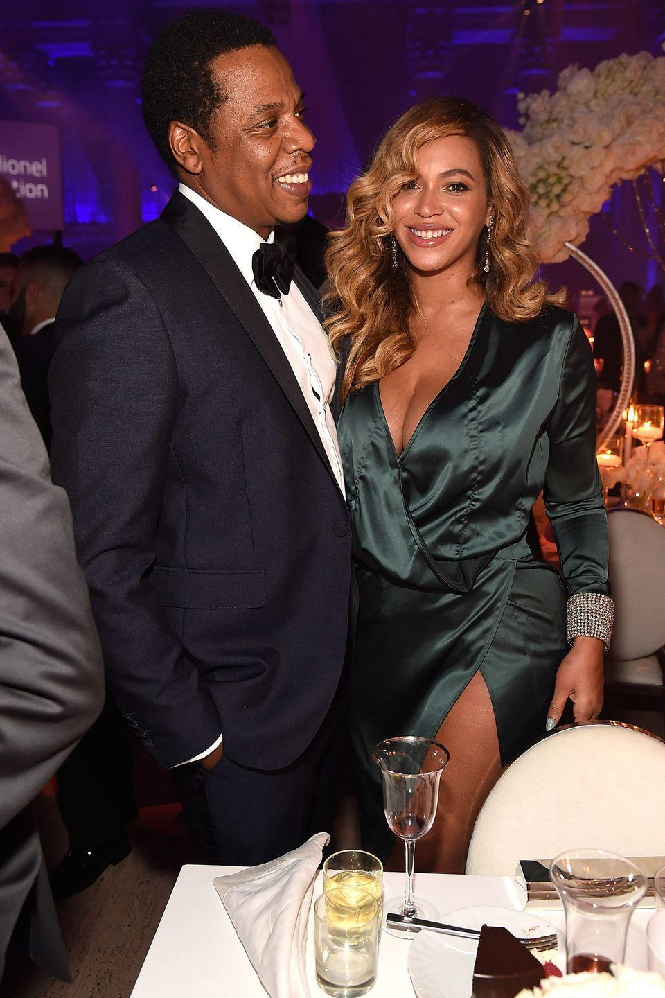 "<p>The power couple first started dating back in 2001, when Jay-Z was 32 years old and Beyoncé was only 20. They later tied the knot in a super <a href=""http://people.com/music/beyonce-jayz-wedding-anniversary-photo-tina-knowles/"" rel=""nofollow noopener"" target=""_blank"" data-ylk=""slk:secretive wedding"" class=""link rapid-noclick-resp"">secretive wedding</a> on April 4, 2008, and gave birth to daughter Blue Ivy Carter in 2012. In 2017, Beyoncé completely broke the internet with <a href=""https://www.harpersbazaar.com/culture/news/a20368/beyonce-pregnancy-photo-symbolism-decoded/"" rel=""nofollow noopener"" target=""_blank"" data-ylk=""slk:an Instagram post"" class=""link rapid-noclick-resp"">an Instagram post</a> announcing that the family of three was expecting twins. The couple soon welcomed babies <a href=""https://www.harpersbazaar.com/celebrity/latest/a10042051/beyonce-twins-first-photo/"" rel=""nofollow noopener"" target=""_blank"" data-ylk=""slk:Rumi and Sir"" class=""link rapid-noclick-resp"">Rumi and Sir</a> in June of that year.</p>"