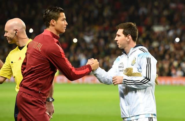 Cristiano Ronaldo, left, and Lionel Messi have dropped down the rankings with age (Martin Rickett/PA)