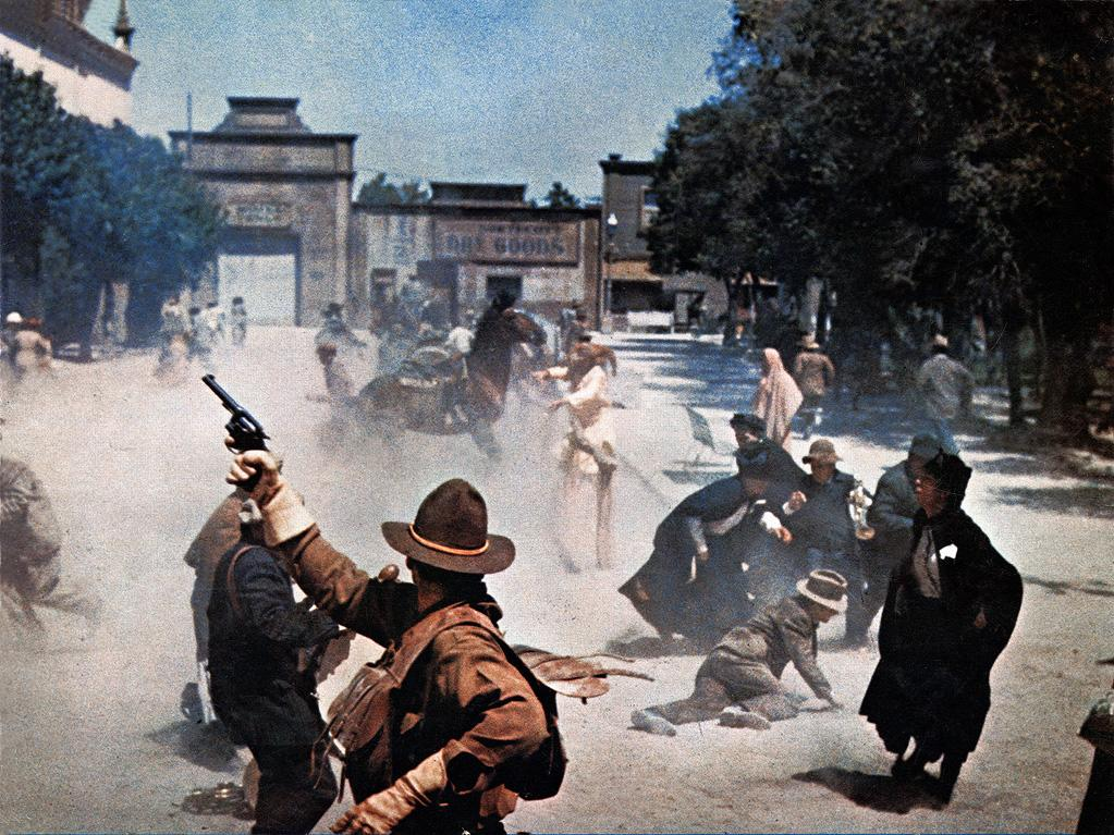 """<a href=""""http://movies.yahoo.com/movie/1800231321/info"""">THE WILD BUNCH (1969)</a>   """"The opening sequence of the great Sam Peckinpah western started a revolution in filmmaking that is still unfolding -- and still pretty hard to top. For sheer energy and visceral punch, it's a landmark that never gets old. Plus, 'if they move, kill 'em' is a great example of character melded with action."""""""
