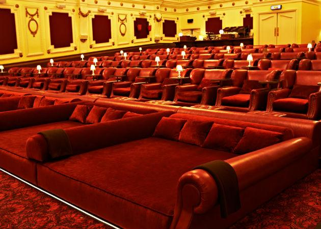London Cinema Has Double Beds Fitted