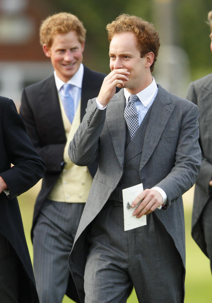The prince and Inskip have been close since they were pupils at Eton. (Getty Images)