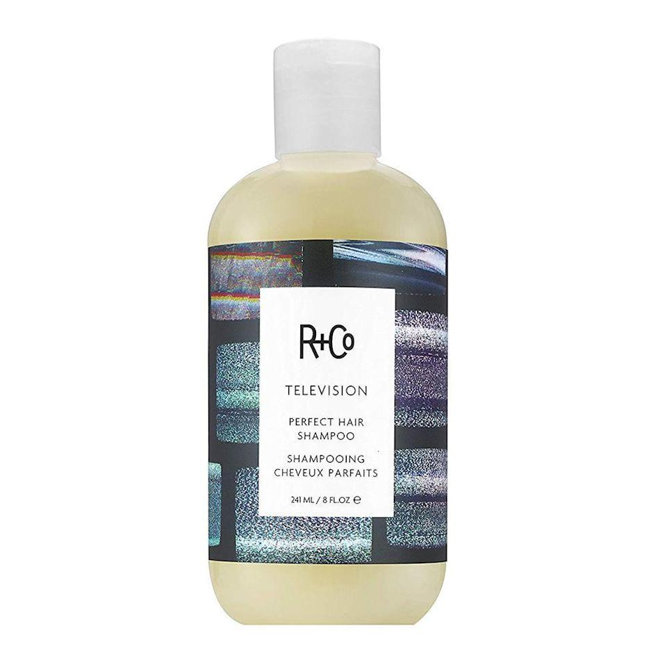 """<p><strong>r+co</strong></p><p>amazon.com</p><p><strong>$32.00</strong></p><p><a href=""""http://www.amazon.com/dp/B078H4HXSM/?tag=syn-yahoo-20&ascsubtag=%5Bartid%7C10058.g.33762832%5Bsrc%7Cyahoo-us"""" rel=""""nofollow noopener"""" target=""""_blank"""" data-ylk=""""slk:SHOP IT"""" class=""""link rapid-noclick-resp"""">SHOP IT</a></p><p>The branding folks at R+Co were <em>not</em> playing around when they named this shampoo. The Perfect Hair Shampoo will help give you exactly that. It makes it sleek, shiny, and soft in just one wash, which is everything you could want from your shampoo.<br></p>"""