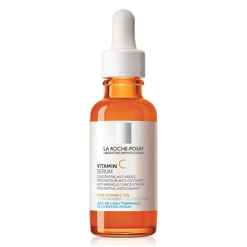 """The name of La Roche-Posay's Vitamin C Serum is as straightforward as it gets, unmistakably touting the formula's 10-percent ascorbic acid. But look a little closer and you'll find this rich liquid provides more than just vitamin C's brightening benefits: <a href=""""https://www.allure.com/story/what-does-salicylic-acid-do?mbid=synd_yahoo_rss"""" rel=""""nofollow noopener"""" target=""""_blank"""" data-ylk=""""slk:Salicylic acid"""" class=""""link rapid-noclick-resp"""">Salicylic acid</a> helps with skin clarity, and hyaluronic acid ensures a boost of hydration. $40, Dermstore. <a href=""""https://shop-links.co/1734158821794927411"""" rel=""""nofollow noopener"""" target=""""_blank"""" data-ylk=""""slk:Get it now!"""" class=""""link rapid-noclick-resp"""">Get it now!</a>"""