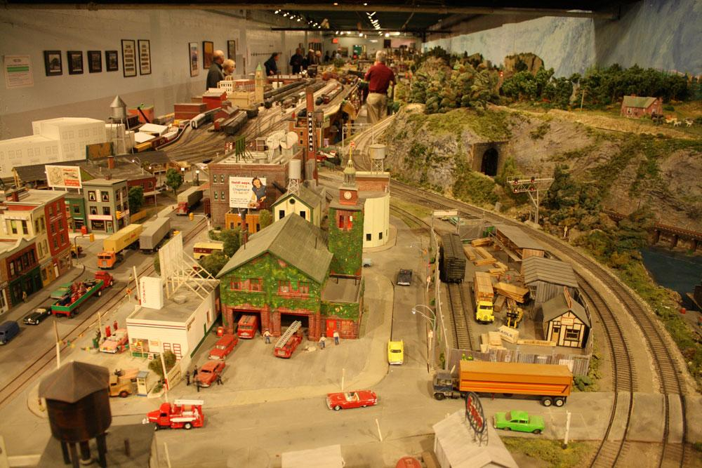 The view from one end of the room, which was also where guns were fired. After 67 years in the Liberty Village location, The Model Railroad Club of Toronto will be moving to make way for a condo.