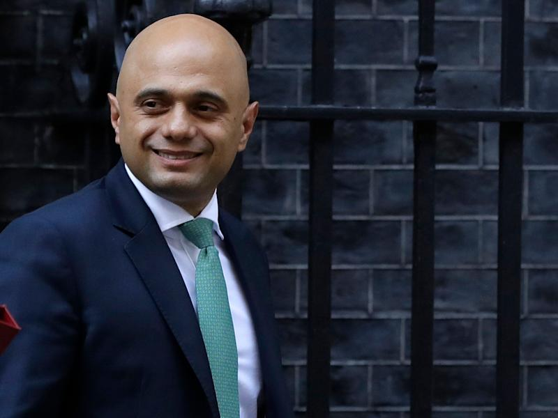 Britain's Home Secretary Sajid Javid leaves after attending a cabinet meeting in Downing Street in London, Monday, Sept. 24, 2018. (AP Photo/Kirsty Wigglesworth)