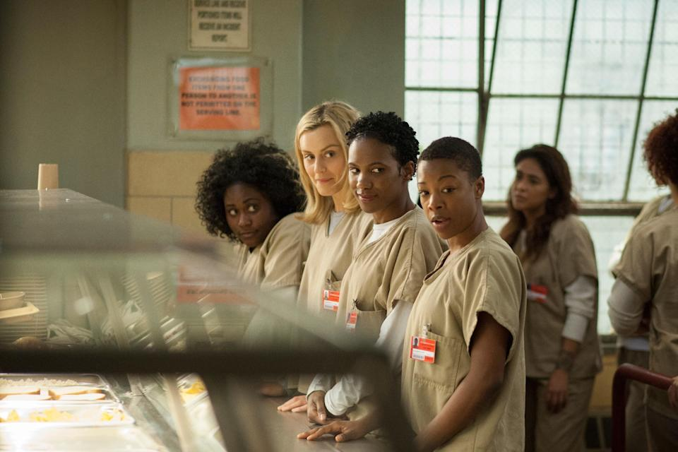 """<p><em>Orange Is the New Black</em> really changed the streaming game when it premiered in 2013 as one of Netflix's first original shows, and there were many emotional moments across <em>OITNB</em>'s eight seasons. Don't even get us started on the Poussey of it all or the storyline around Lorna's baby. But the final batch of episodes was particularly heartbreaking, especially the ones focused on the current immigration crisis and its effects on families and children. </p> <p><a href=""""https://www.netflix.com/title/70242311"""" rel=""""nofollow noopener"""" target=""""_blank"""" data-ylk=""""slk:Watch now on Netflix."""" class=""""link rapid-noclick-resp""""><em>Watch now on Netflix.</em></a> </p>"""