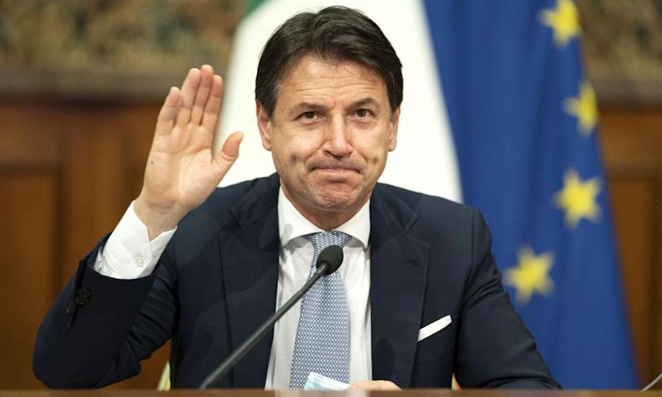 <span>Photograph: Italian Prime Minister's Press O/AFP/Getty Images</span>